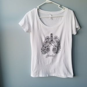Next Level Breathe floral lungs graphic yoga tee